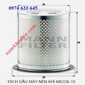 Lọc tách dầu máy nén khi MICOS-15 (15KW)