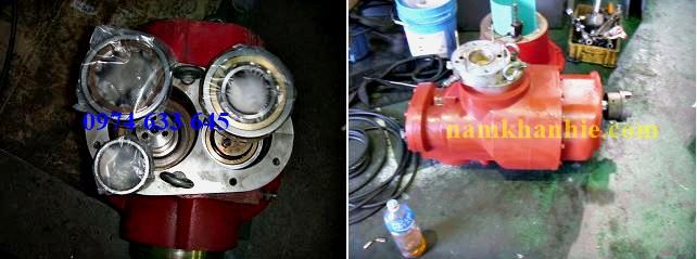 Xử lý máy nén khí Hanshin 100Hp bị keo dầu.