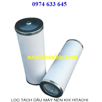 Lọc tách dầu máy nén khi Hitachi