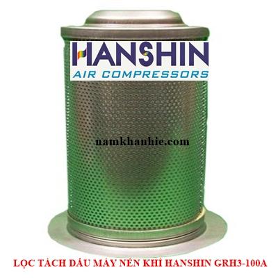 Lọc tách dầu máy nén khí Hanshin GRH3-100A.