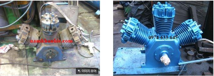 Sửa chữa đầu nén piston máy nén khí Hanshin 20HP