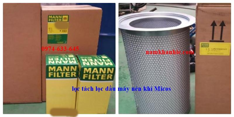 Lọc tách dầu máy nén khí Micos 150 Thương hiệu Mann Germany