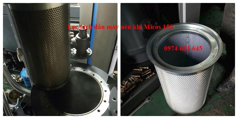 Thay lọc tách dầu máy nén khí Micos 150 Thương hiệu Mann Germany