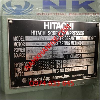máy làm lạnh nước Hitachi củ 40hp
